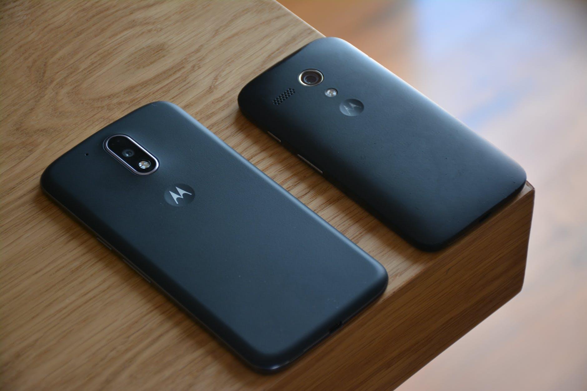 black motorola android smartphone