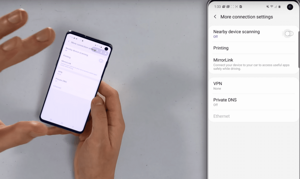 Desactivar escaneo de dispositivos android