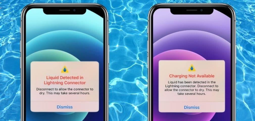 Líquido detectado iPhone