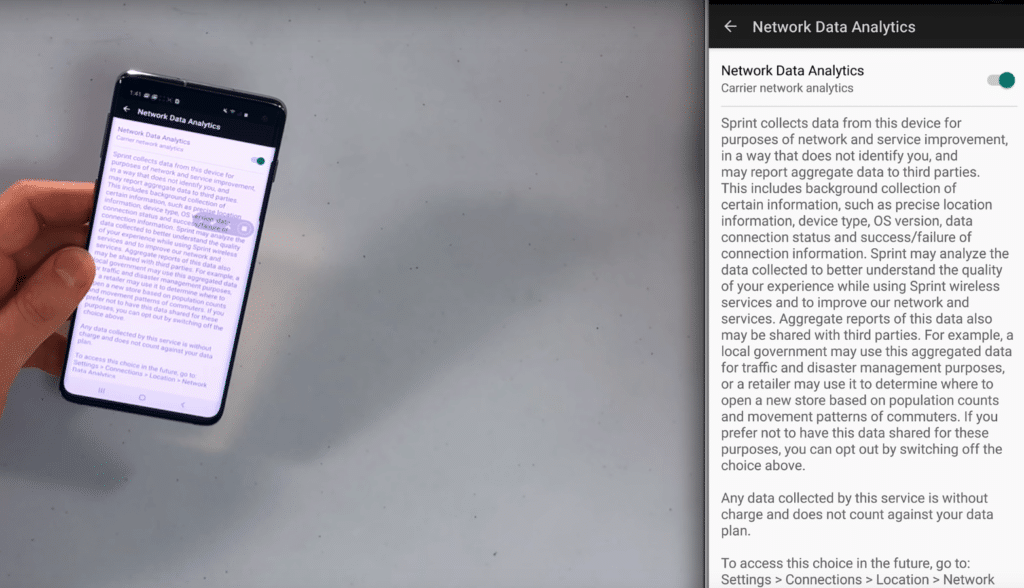 No enviar informacion al operador android