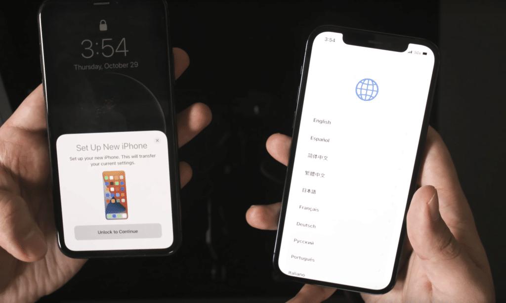 Transferir datos de iphone a iphone sin computdor